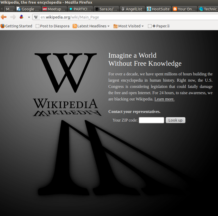 Jimmy Wales and Wikimedia oppose PIPA and SOPA measures