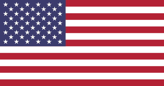 The American flag of he United States of America